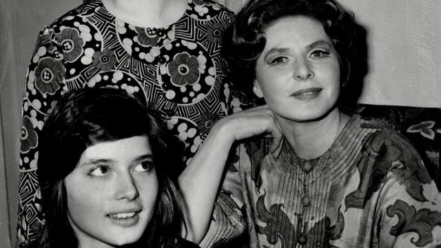 Isabella rossellini e Ingrid Bergman